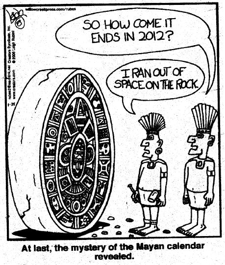 mayan calendar no room on the rock
