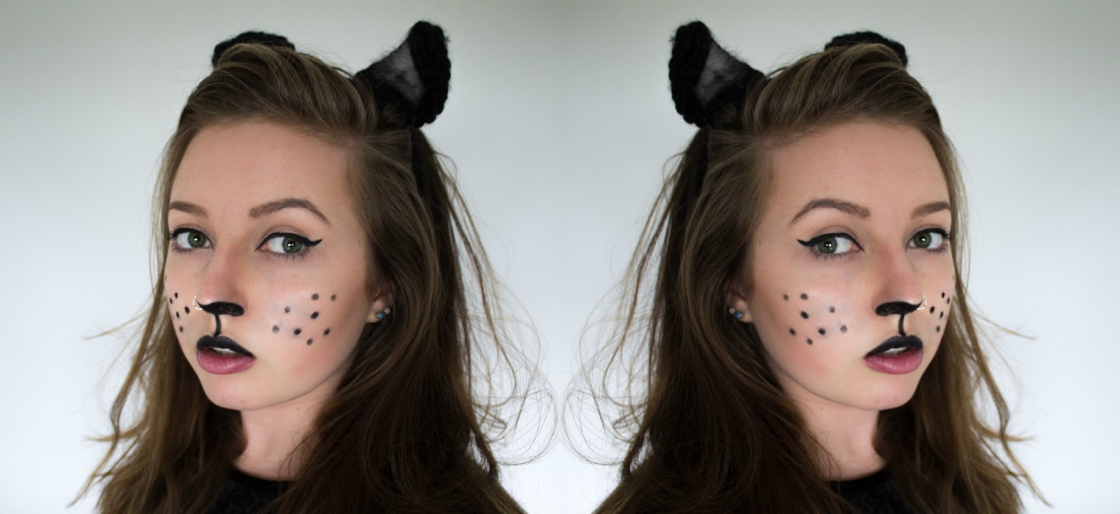 halloween diy #1 - easy cat makeup - lunas lens