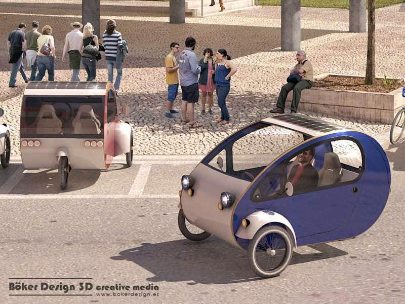 Triciclo Biplaza Ecologico y Sostenible