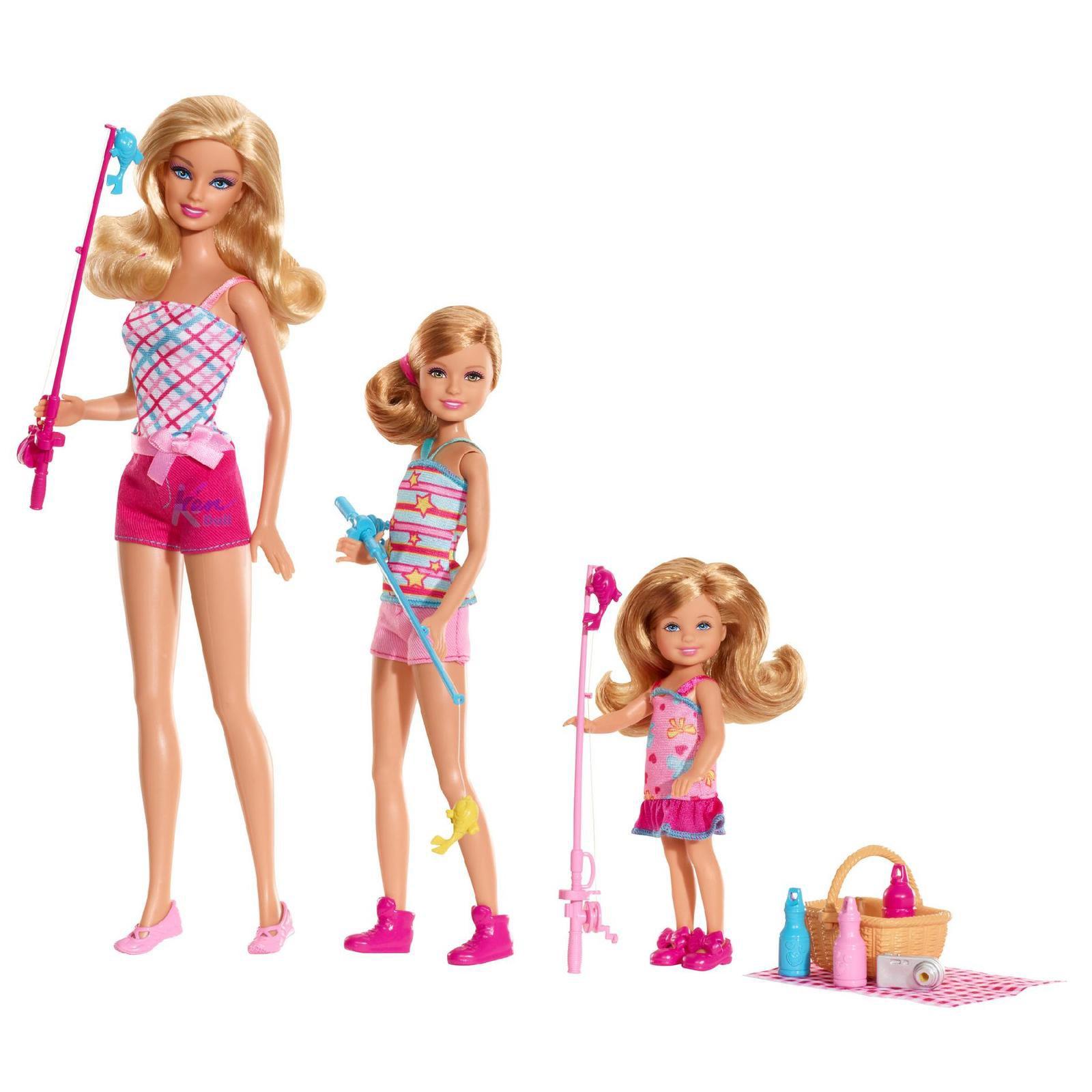 É a pescaria legal das irmãs que vem a Barbie Stacie & Chelsea  #B31845 1600x1600 Banheiro Da Barbie Lojas Americanas