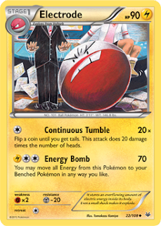 Electrode Roaring Skies Pokemon Card