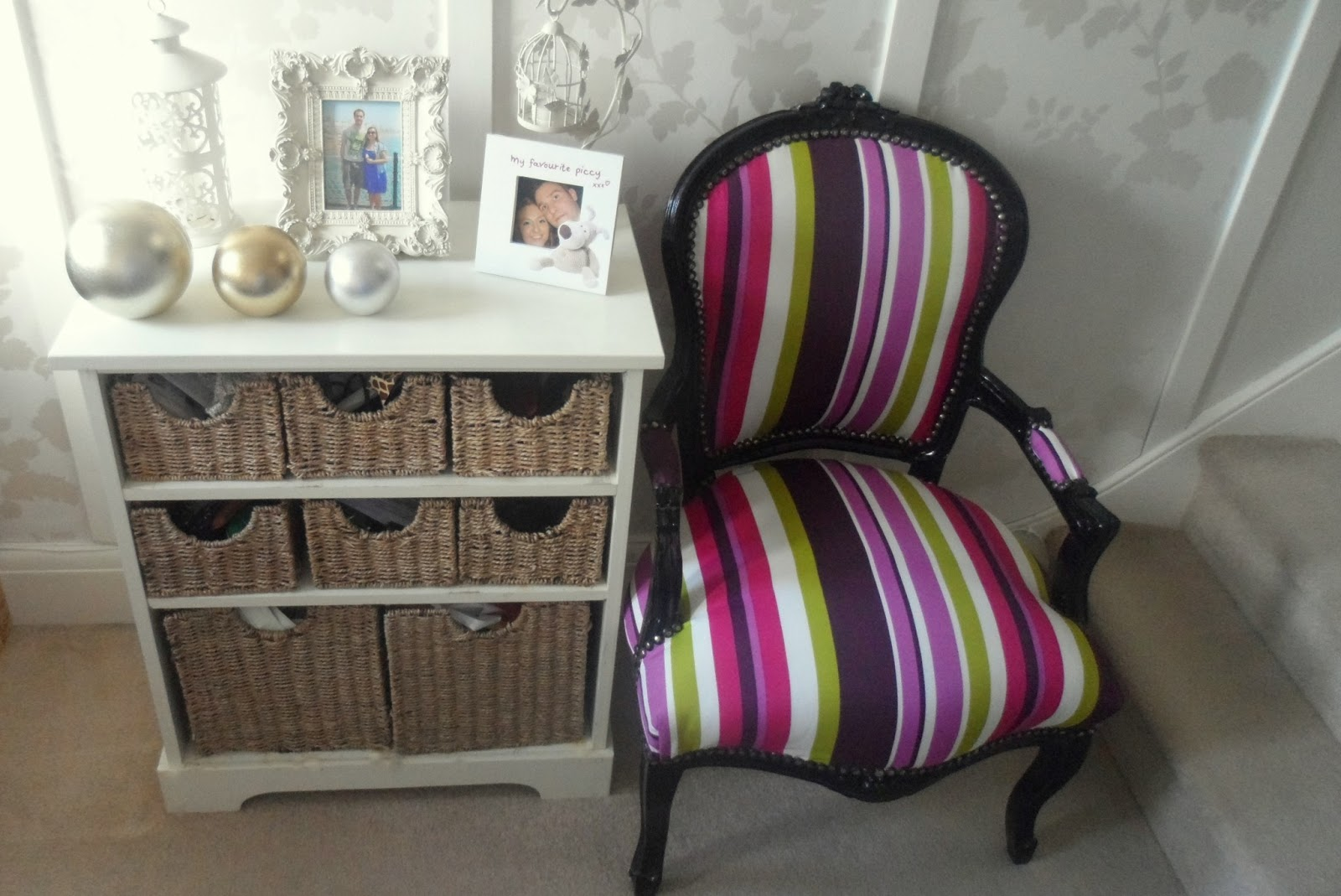 Delightful My New Stripey Louis Armchair From Outthereinteriors.com