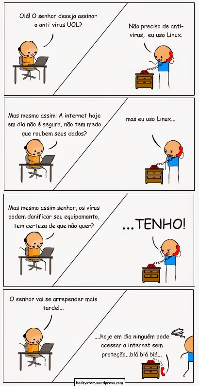 piada nerd linux