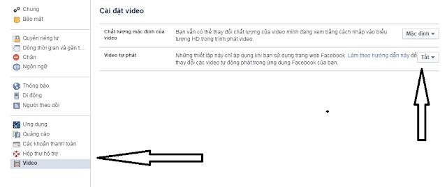 Hướng dẫn Cách tắt video tự động phát trên facebook mới nhất 2015
