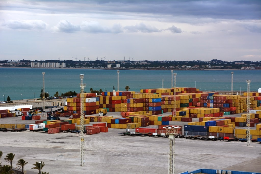 Port of Cadiz containers