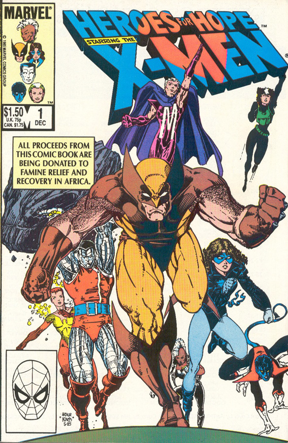 I Suspect Most People Are Familiar With The Fact That In 1985 Marvel Comics Published A Comic Book Heroes For Hope To Raise Money East African Famine