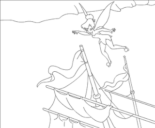 Tinkerbell coloring pages, free coloring pages