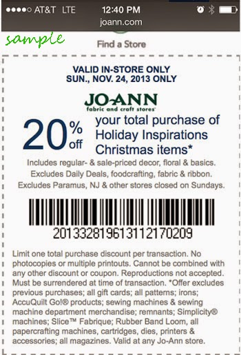Joann fabrics printable coupons dec 2018