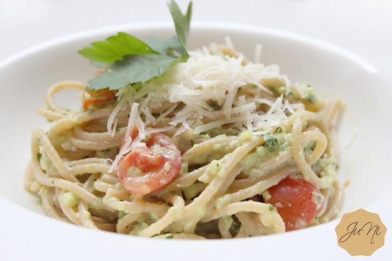 Avocado Pasta Tomaten Foodblog