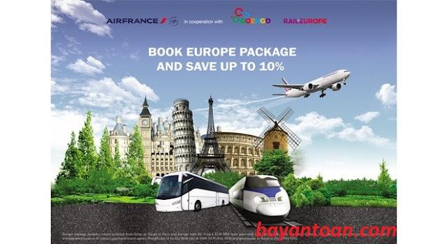 Hãng Air France ra mắt gói sản phẩm du lịch châu Âu hấp dẫn