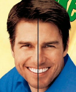 Por falar em Tom Cruise, o ator tem um rosto assimétrico