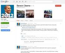 Barack Obama en Google Plus Obama en Google+