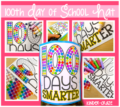 Perfect project for the 100th day of school! $2.50