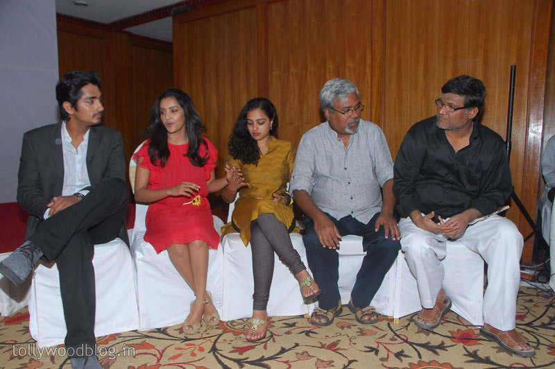 Siddharth  Press Meet Photo Stills Nitya Priya movie photos