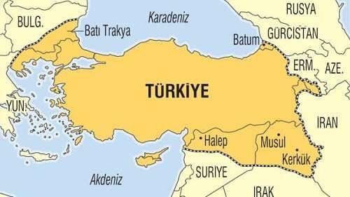 На картах, публикуемых в турецких газетах, Нахичеван, наряду с Аджарией, Кипром, Западной Фракией и некоторыми территориями, закрашен в один цвет с Турцией.