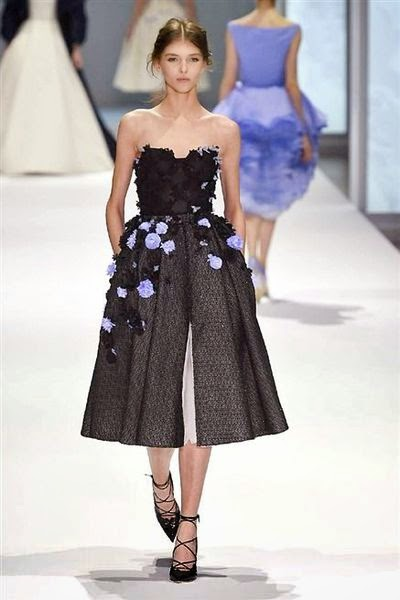 belles robes de haute couture noire ralph russo défilé de mode 2015
