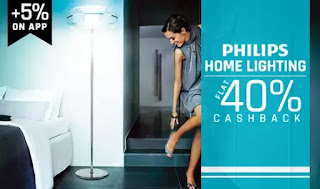 PayTM : Get Philips Lightings with Extra 30% Cashback