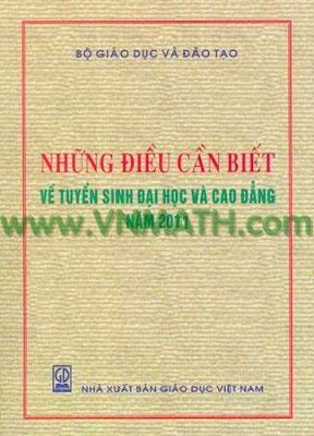 Những điều cần biết về tuyển sinh năm 2011, nhung dieu can biet ve tuyen sinh 2011, tuyen sinh 2011