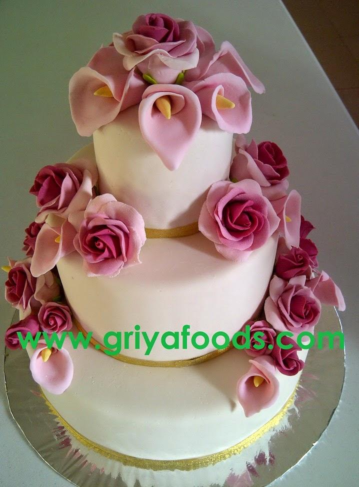 GriYa Foods Cara Membuat Wedding Cake dengan Hiasan Fondant