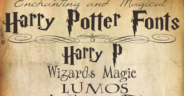 Harry Potter Book Cover Font : Hello paper moon enchanting and magical harry potter fonts