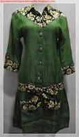 model baju batik kombinasi satin