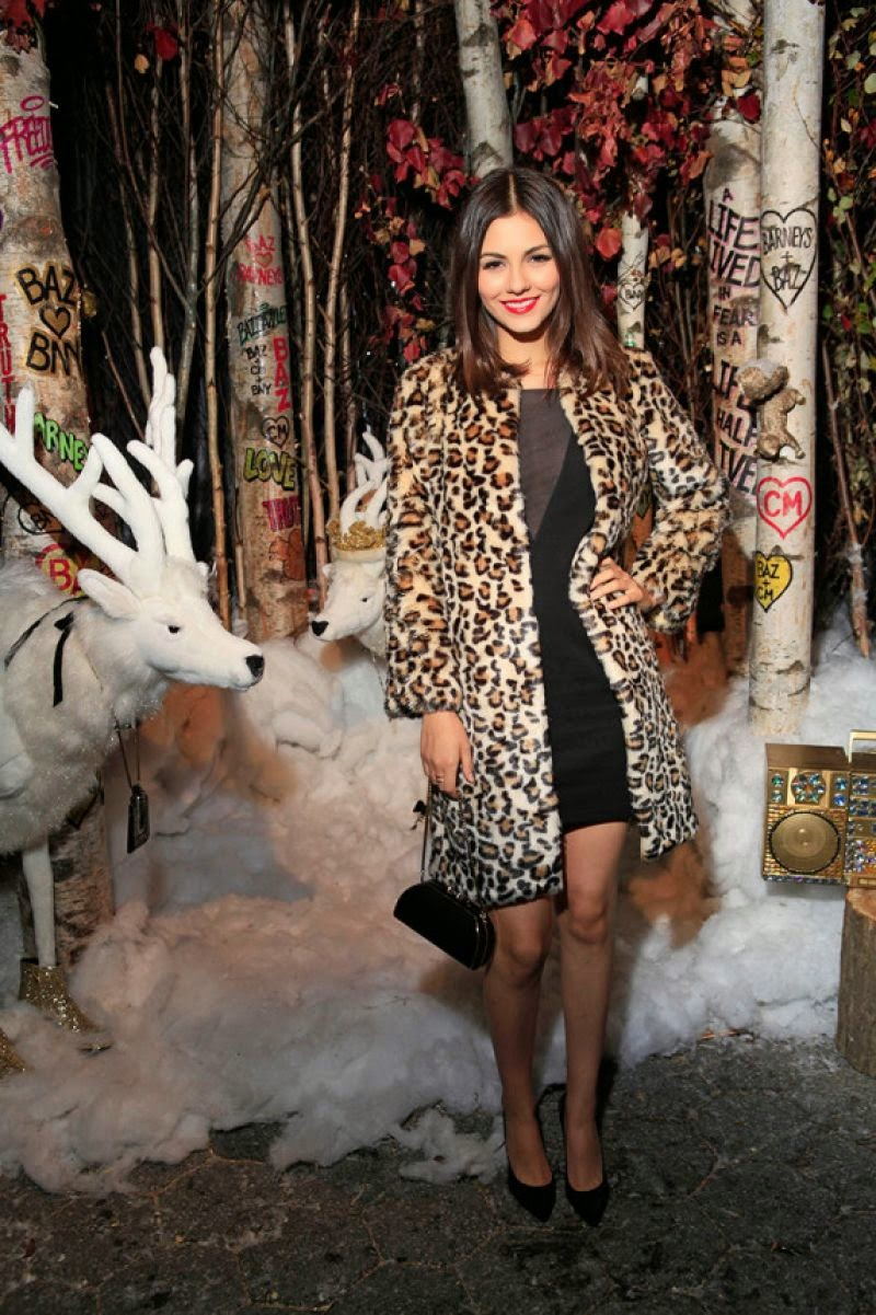 Victoria Justice – 2014 Barney's Holiday Window Unveiling