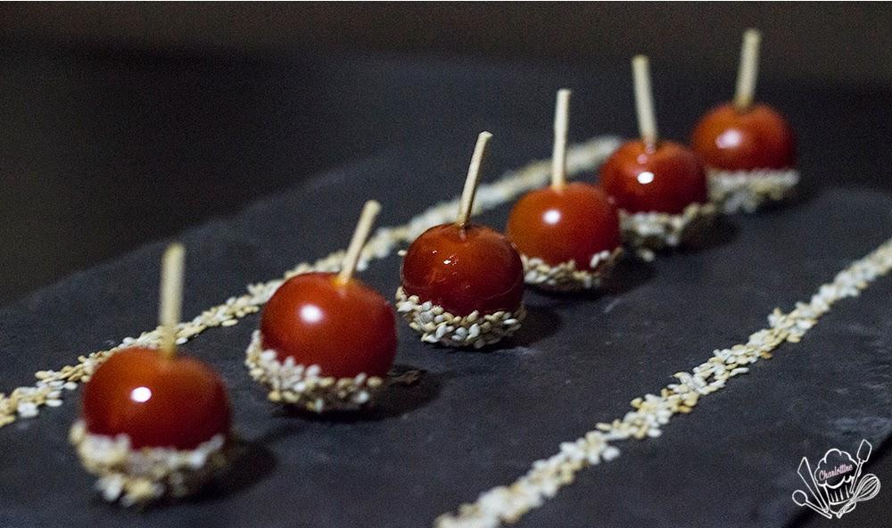 Défis des chefs #4 : Tomates cerises en pommes d'amour de Benoit Charvet