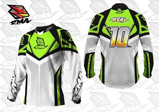 Motocross Trail Bike MTB BMX MX Enduro Cycling Jersey Custom Green