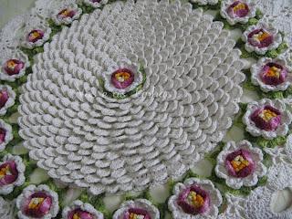 tapete croche flor de maracujá