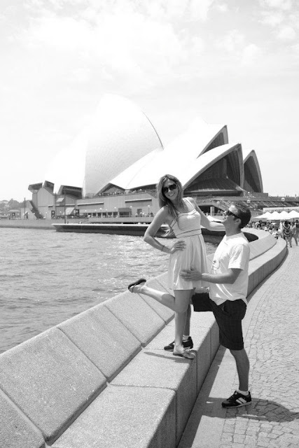 Sydney Opera House, Black and white photo, fun, summer, 2011