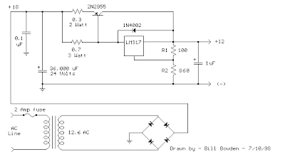 LM317 Pass Transistor Regulator