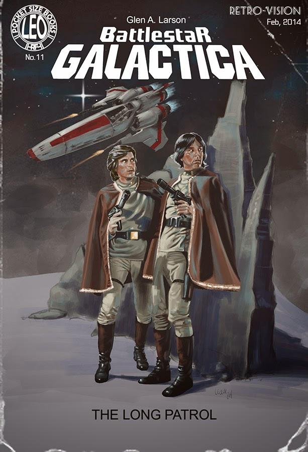Battlestar Galactica | The Pulp Covers - ©Leolux - Dibujo e Ilustración