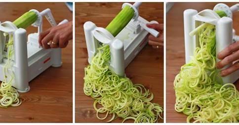 Fatiador de legumes em espiral, uma alternativa saudável!