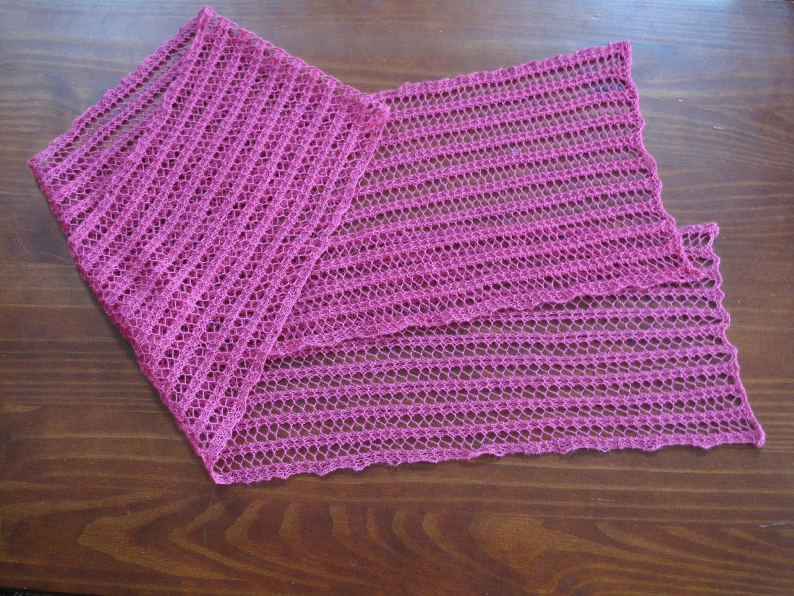 Just Create Every Day One Row Lace Scarf