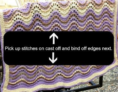 Knitting Picking Up Stitches Border : golden bird knits: Lap blanket pattern