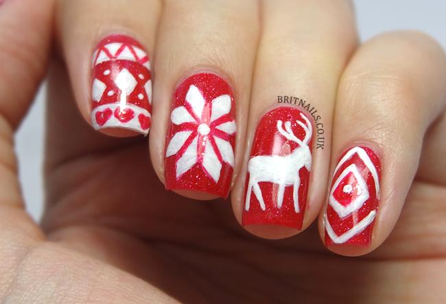Christmas Jumper Nail Art Brit Nails