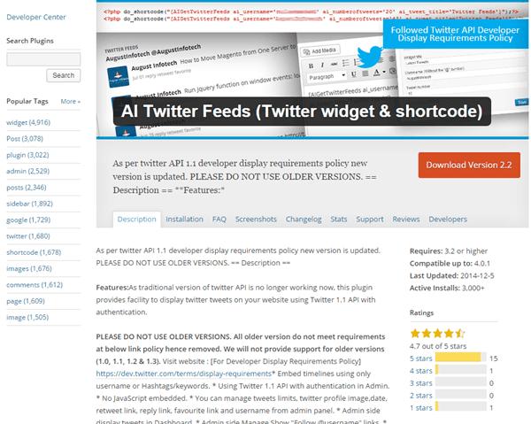AI Twitter Feeds (Twitter widget & shortcode)