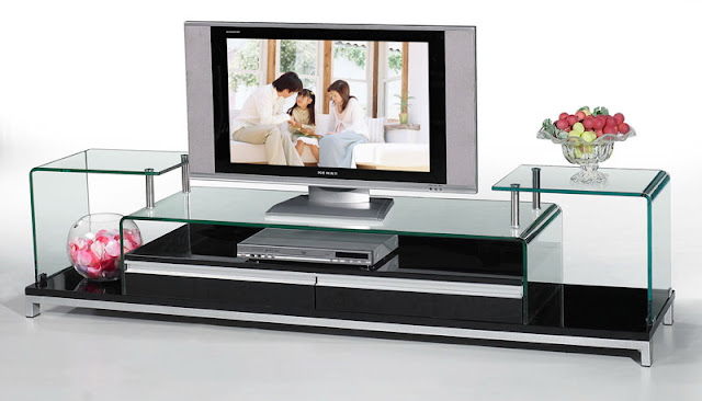 Modern TV Stand Glass Photo