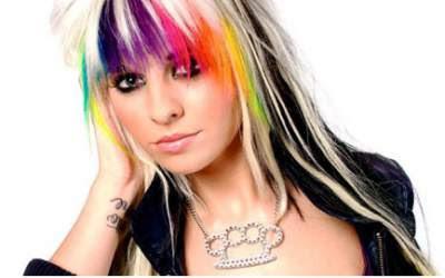 Warna rainbow highlights untuk rambut layer 2016