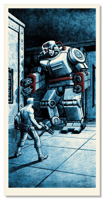 Boss Fight 2 Ode to Id Video Game Themed Screen Print Series by Nick Derington & Nakatomi - The Mech