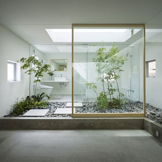 Contoh Desain Taman Dalam Rumah Minimalis