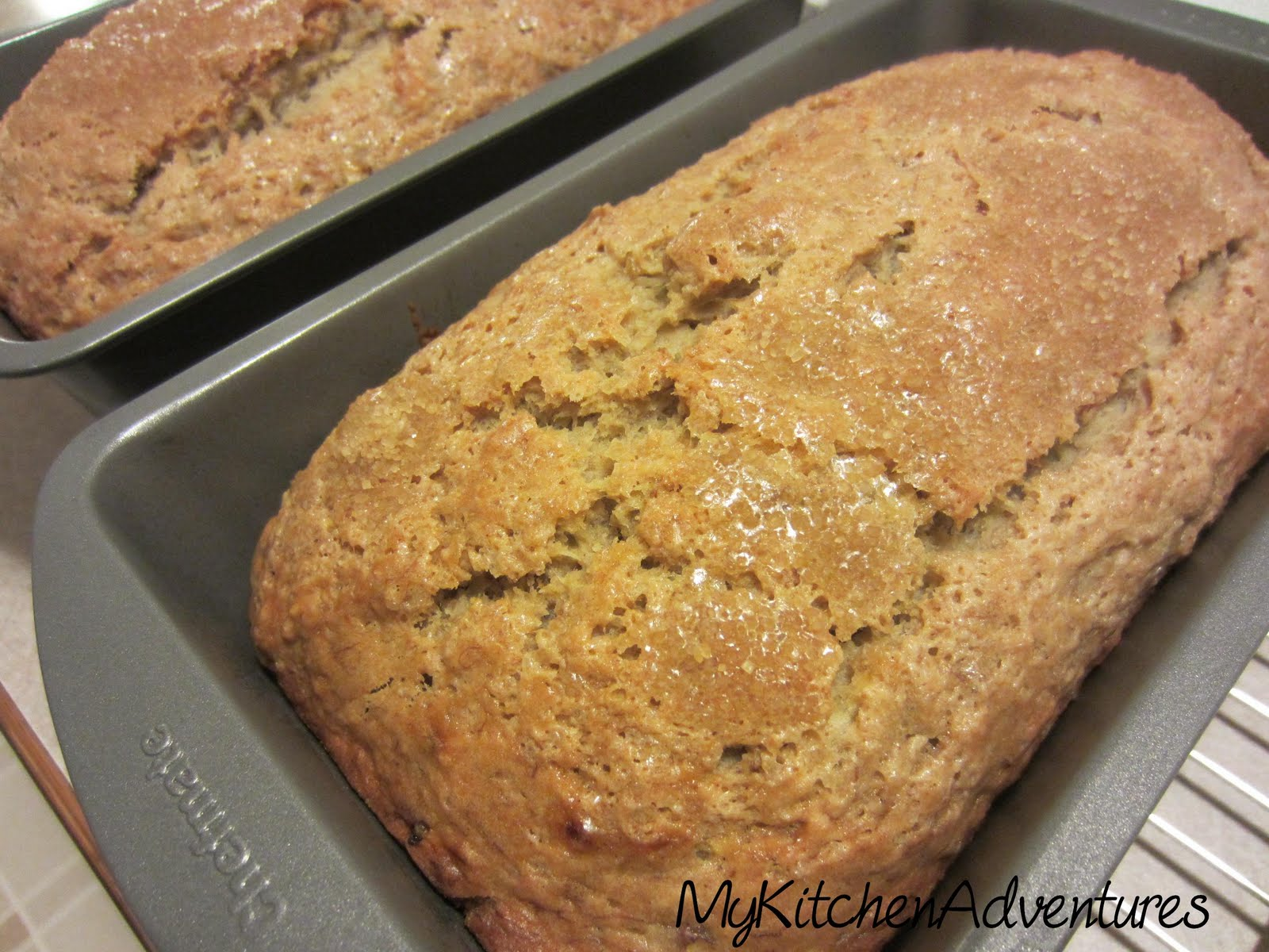 Renee's Kitchen Adventures: Banana-Applesauce Bread
