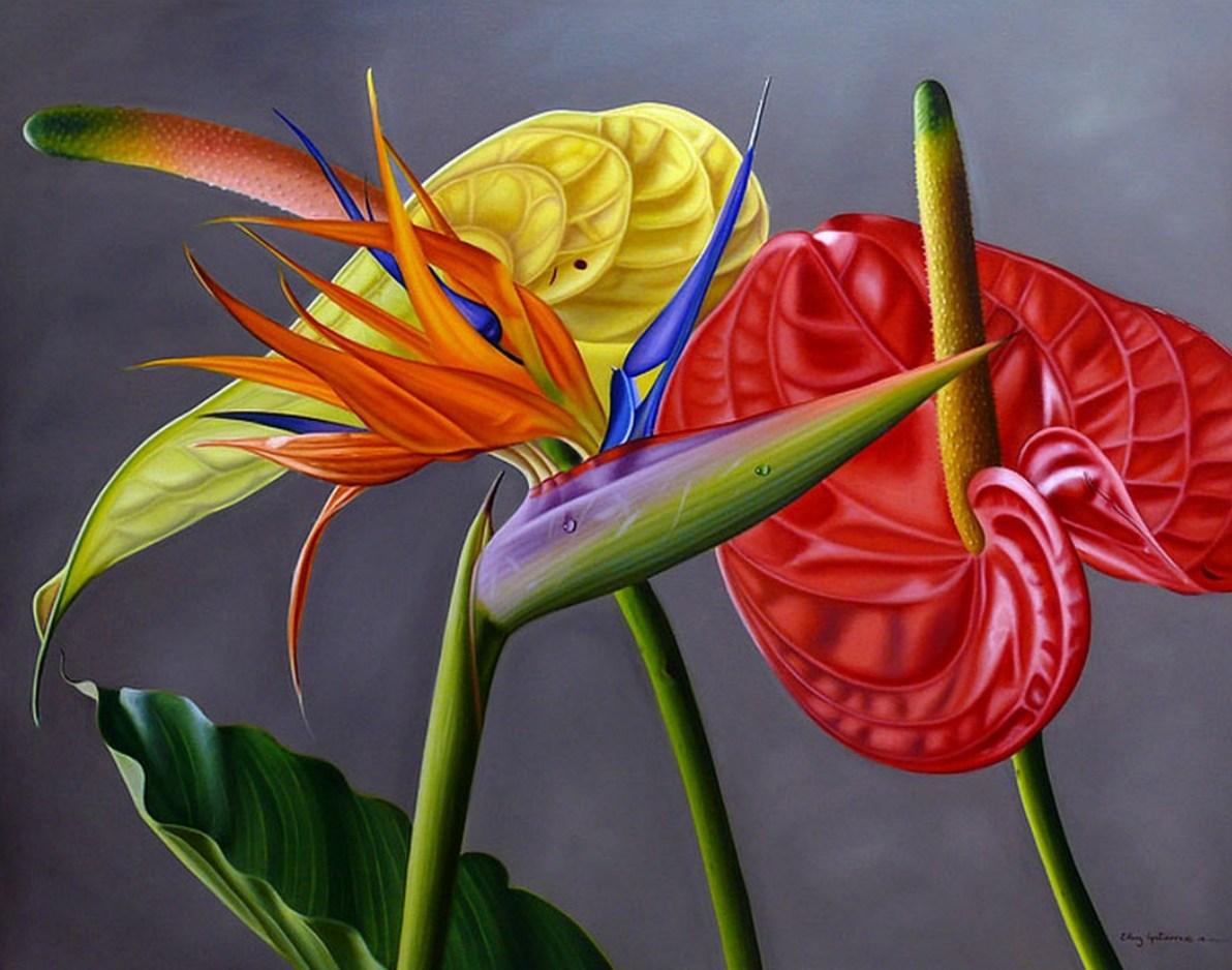 Pinturas cuadros lienzos pinturas leo flores - Ver cuadros modernos ...