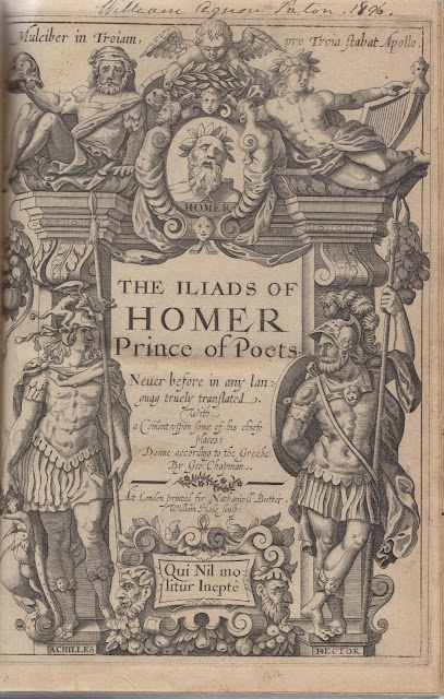 a look into chapmans translations of homer They include those by english poets george chapman (c 1559-1634) and john dryden (1631-1700), the odyssey translated into english and translation of homer.