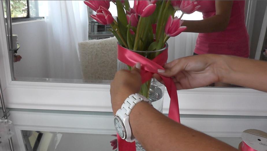 Diy Flower Vase Idea Corset Vase With Tulips Modern