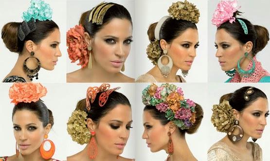 moda flamenca El Corte Inglés complementos de flamenca flores pendientes peinetas