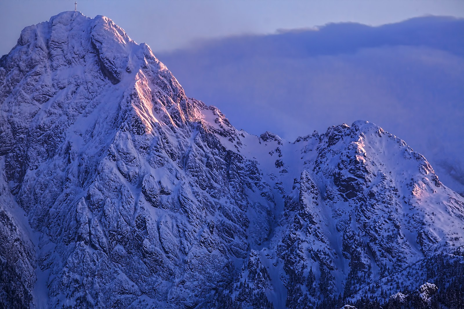 Giewont mountain in the evening