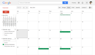 tampilan hari hari penting google calendar