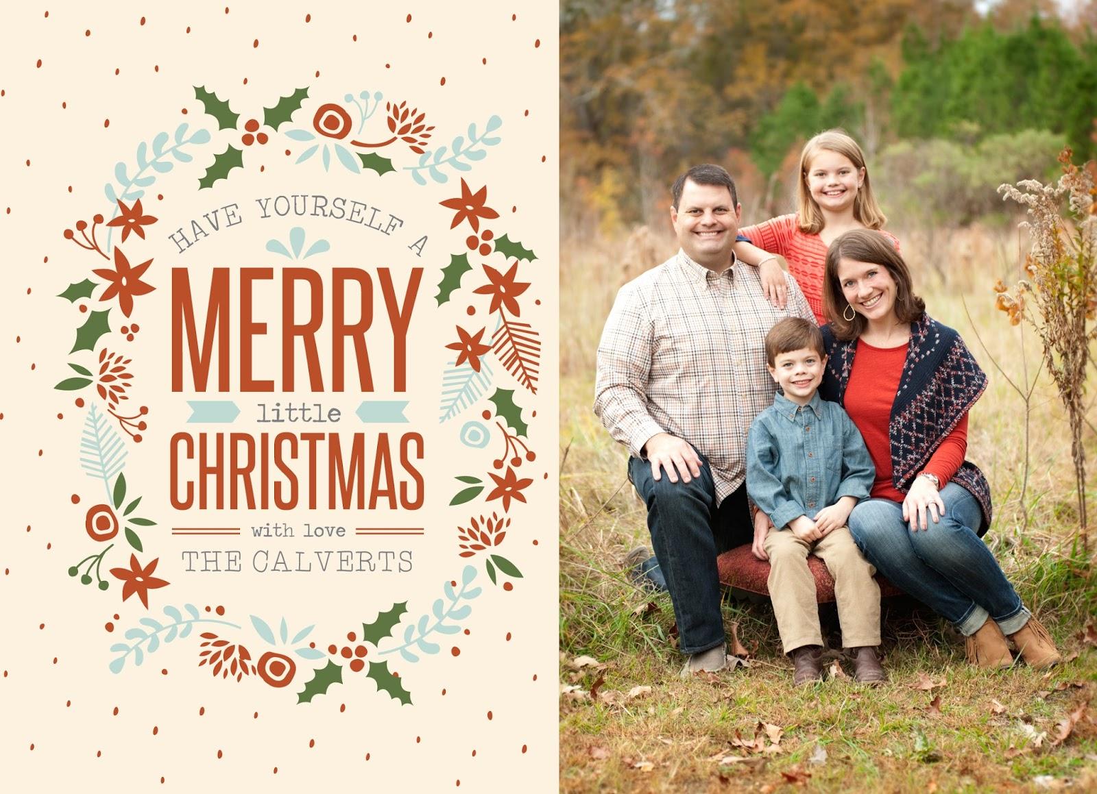 The Calvert Family Christmas Card