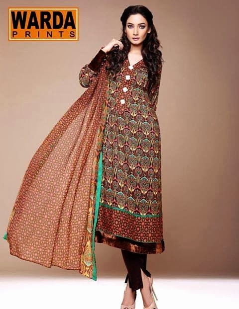 WardaPrintsFall WinterCollection2014 2015 wwwfashionhuntworldblogspotcom 003 - Winter Collection 2014  By Warda Prints vol  2
